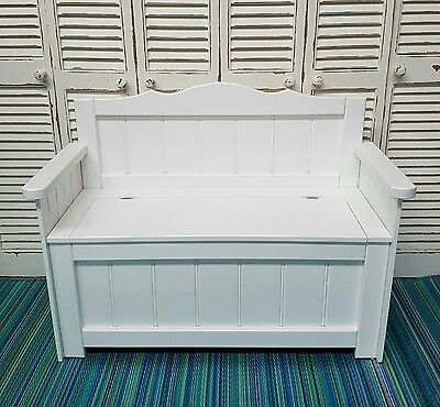White Toy Box Bench Seat Australian Made
