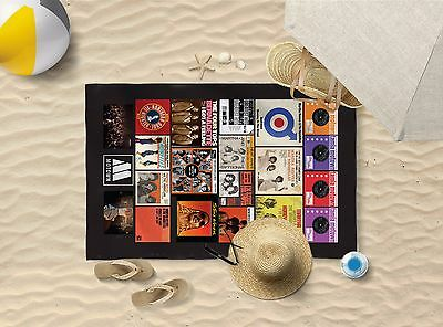 "58""x39"" NORTHERN SOUL FLYER DESIGN MICROFIBRE BEACH TOWEL SUN BATHING TOWEL ONLY"