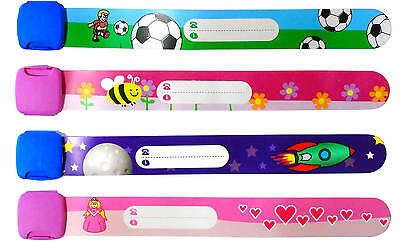 ID wrist band Re-Useable Kids Childrens Infants concert event festival wristband