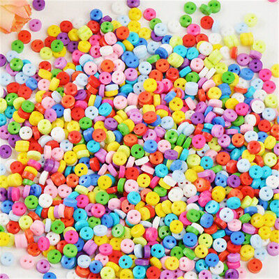 Hot 500Pcs 6mm Round Resin Mini Tiny Buttons Sewing Tools Apparel Accessories
