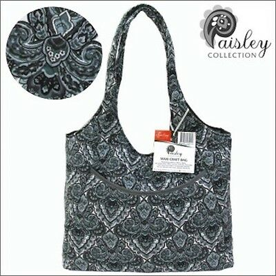 Sew Easy - Paisley Maxi Craft Sewing/Knitting Bag - Quilted/ Large size/ Pockets