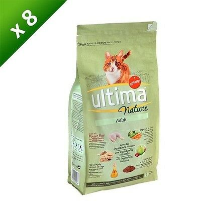 ULTIMA Nature Croquettes au poulet - Pour chat adulte - x8