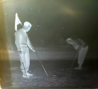 1 X Golf/ Vintage/antique Glass Negative Photography Plates. Historical Images