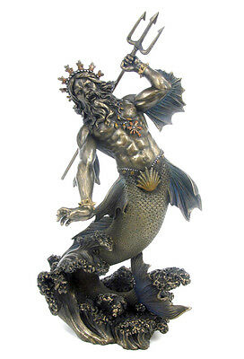 Poseidon Greek God of the Sea Nautical Statue Sculpture Figure