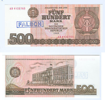 GDR 1985 500 Mark checkout fresh Fake