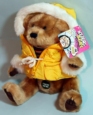 """Brass Button Bears #9985441 Iceburg Augie 12"""" Sound Talks Fully Jointed Plush"""