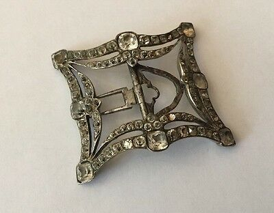 Early Georgian Silver and Black Dot Paste Shoe buckle c1750 probably English