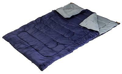 Halfords Double Envelope Outdoor Camping Camp Sleeping Bag 137 x 190cm