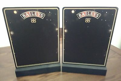 2 x Baileys FESTIVE Double Sided Bar Top / Table Top Chalk Boards New