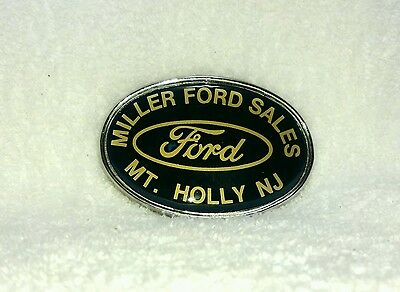 Advertising R.J. Roberts CO Miller Ford Sales Belt buckle Mt Holly NJ never used