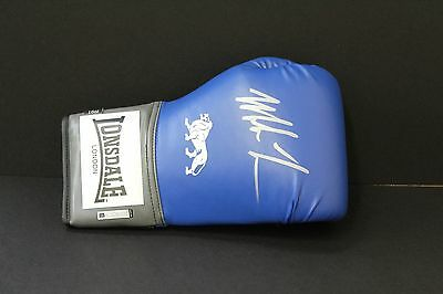 Mike Tyson Hand Signed Blue Boxing Glove