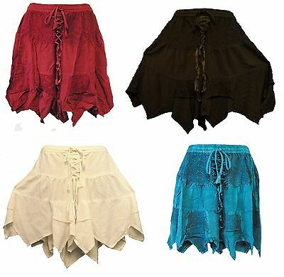 Medieval Renaissance Corset Style Fairy Skirt - Black, White, Teal, Red 271