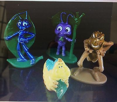 RARE DISNEY PIXAR BUG's LIFE General Mills Promo 4 FIGURE SET FLIK  HEMLICH NEW