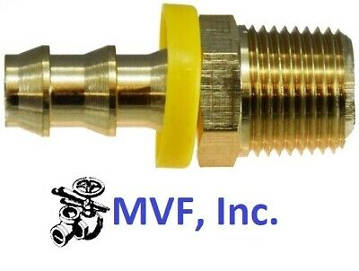 "PUSH-ON HOSE BARB for 1"" ID HOSE X 1"" MALE NPT BRASS HEX BODY FITTING <301-1616"
