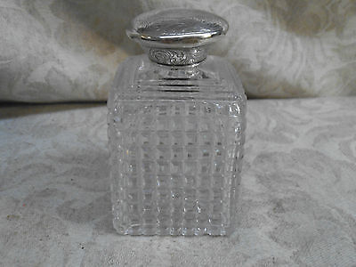 Jonathan Howell Sterling Cut Crystal POWDER Bottle- London - English - 3.75""