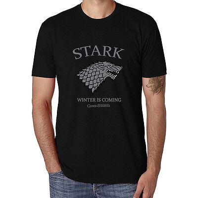 Game of Thrones House Stark Winter Is Coming funny T-Shirts Men Cotton Tops Tees