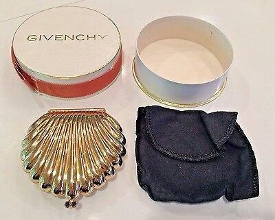 NIB Vintage Givenchy Large Clam-Shell Compact Never Used Glamour Chic Perfection