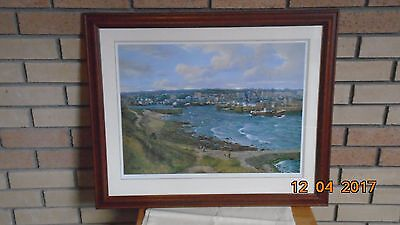 """Limited edition print """" LOW TIDE"""" by DONALD M SHEARER c1970's  ABERDEEN HARBOUR"""