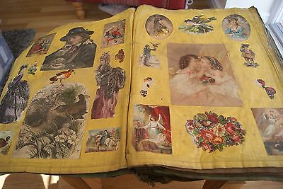 Antique Victorian Cloth Scrapbook Childrens Stories & Nursery Rhymes Scraps