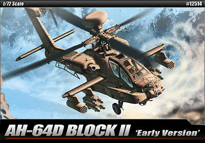 Academy 12514 AH-64D Block II Attack Helicopter 1/72 Scale Plastic Model Kit