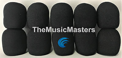 NEW 10 Pack Black HQ Stage Microphone Windscreen Filters Covers Protectors VWLTW