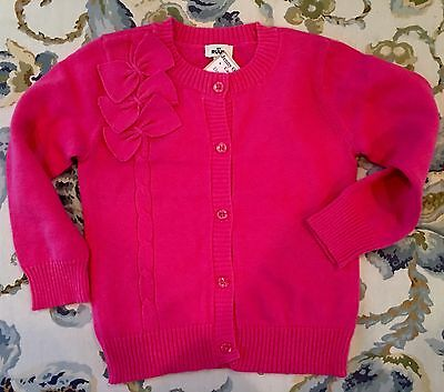 SALE! Hot Pink Baby Cardigan Sweater By Ruum Size 2 yrs