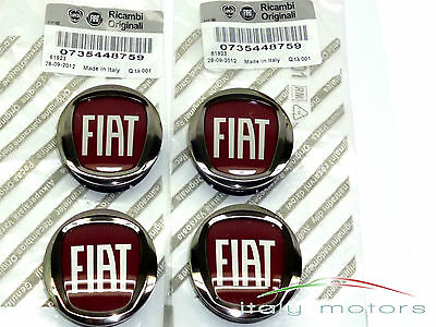 Fiat Grande Punto original Alloy cover Hub caps hub caps SET 735448759 NEW