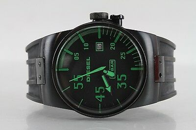 Men's Diesel Quartz Wristwatch Model No. DZ-1163 Rubber Wrist Strap