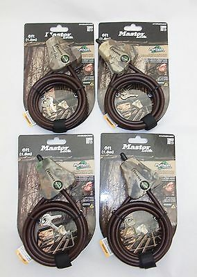 4 Keyed the Same Master Lock 8418KAD Python Locking 6' Cable Camo - Free Ship
