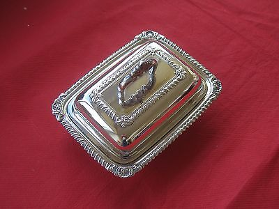 Lovely Silver Plated Butter Dish w/ Glass Liner
