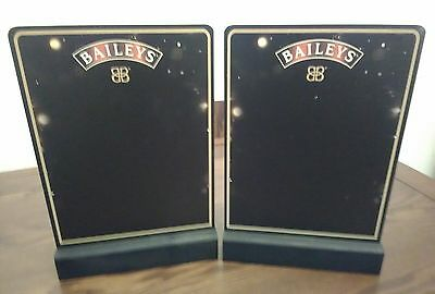 4 x Baileys FESTIVE Double Sided Bar Top / Table Top Chalk Boards New Joblot