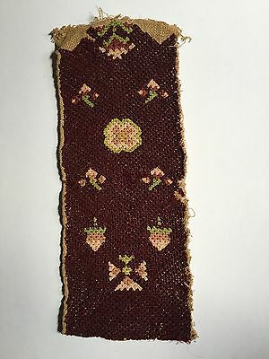 Circa 1760 needlework pocketbook cover, Probably Pennsylvania, unused
