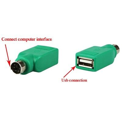 2PCS PS/2 Male to USB Female Port Adapter Converter For PC Keyboard Mouse PS2