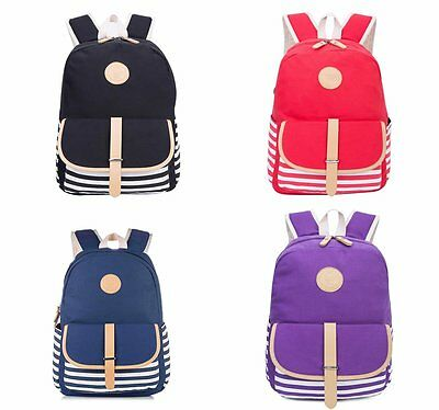 Teenagers School backpack Canvas schoolbag girl kids satchel travel bag Rucksack