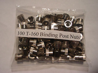 100 Binding Post Nuts T-160  For Lionel Transformer: Zw,kw,rw,z Free Shipping