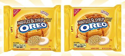 x2 Waffles & Syrup Breakfast Oreo Cookies American LIMITED EDITION Oreos 10.7 OZ