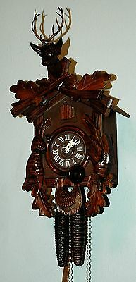 Beautiful One Day Helmut Kammerer Hunter Style German Black Forest Cuckoo Clock