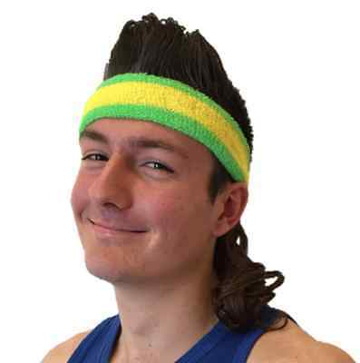 Mullet wig, mullet headband - The Aussie All Rounder