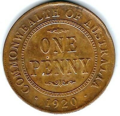 1920M Australian PENNY in VG Condition