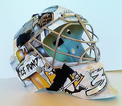 Pittsburgh Penguins Goalie Mask Custom Hockey Helmet Nhl Replica Full Size