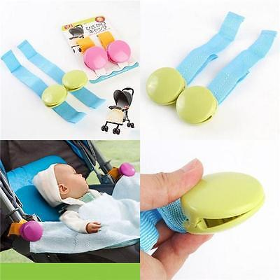 2PCS Baby Stroller Anti Kick Quilt Clip Blanket Multipurpose Safe Blanket Clip J