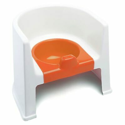 The Neat Nursery Co. Child / Kids / Toddler Potty Training Chair - White/Orange
