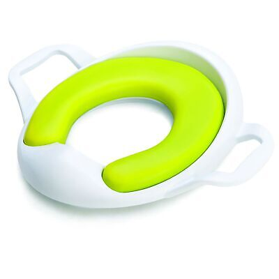The Neat Nursery Co. Comfy Toddler Kids Child Toilet Training Seat - White/Lime