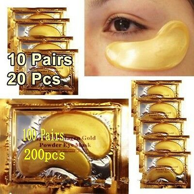 100 pairs Crystal Gold Collagen Aging Under Eye Patches Mask Bags Wrinkles Hot