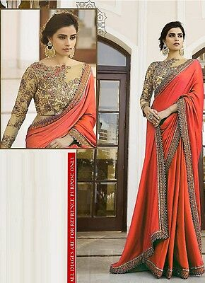 Latest Indian sari Designer Embroidered Party Wear saree With Designer Blouse