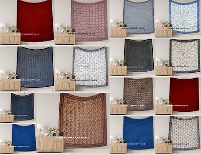 10 PC Wholesale Lot Hand Block Printed Bed Sheet, Bed Spread, Bed Cover Indian