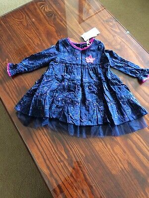 BNWT Pumpkin Patch Long Sleeve Dress Cute Sz 12-18m