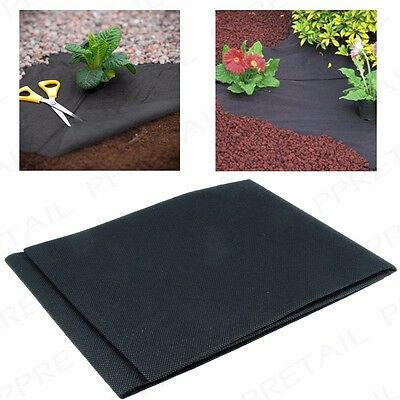 WEED CONTROL WOVEN FABRIC Membrane Ground Cover Mulch/Gravel Mat 1.5M x 1M