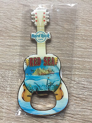 Hard Rock Cafe Nabq Red Sea Guitar Bottle Opener Magnet !! Awesome !!