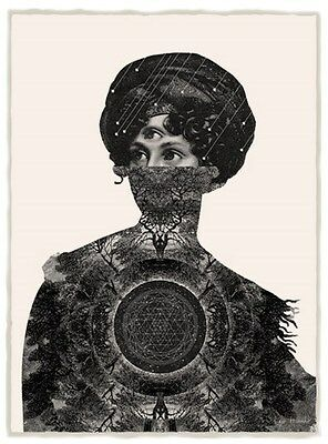 Dan Hillier - Centre - Limited Edition Signed Screen Print + Eelus Sticker